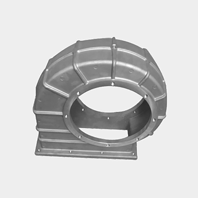 Aluminum volute:9.8KG T6 heat treatment, CNC machining